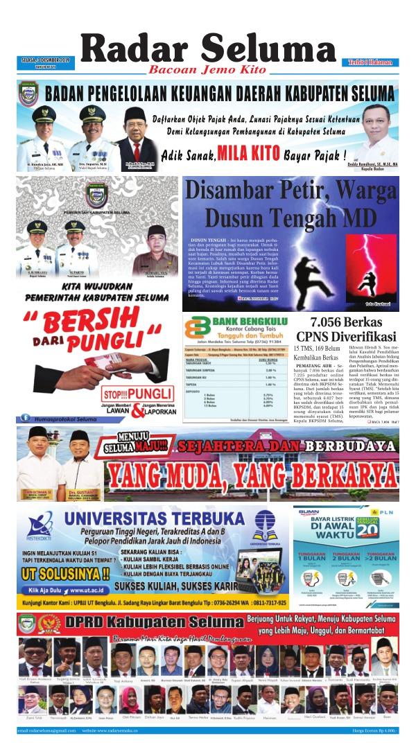 Koran Radar Seluma - Edisi 3 Desember 2019