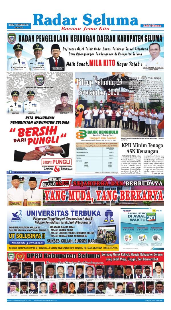 Koran Radar Seluma - Edisi 14 Desember 2019