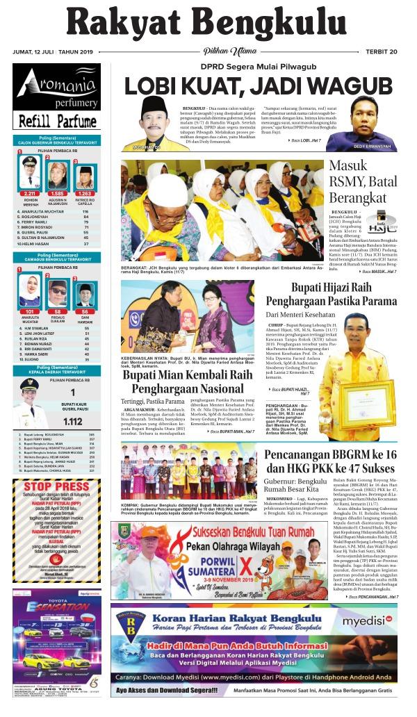Koran Rakyat Bengkulu - Edisi 12 Juli 2019