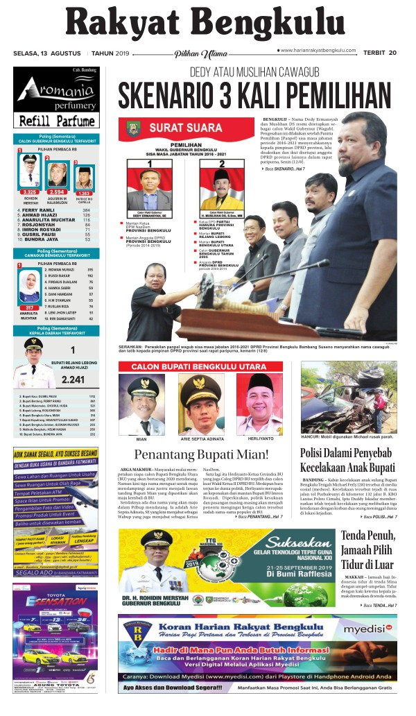 Koran Rakyat Bengkulu - Edisi 13 Agustus 2019