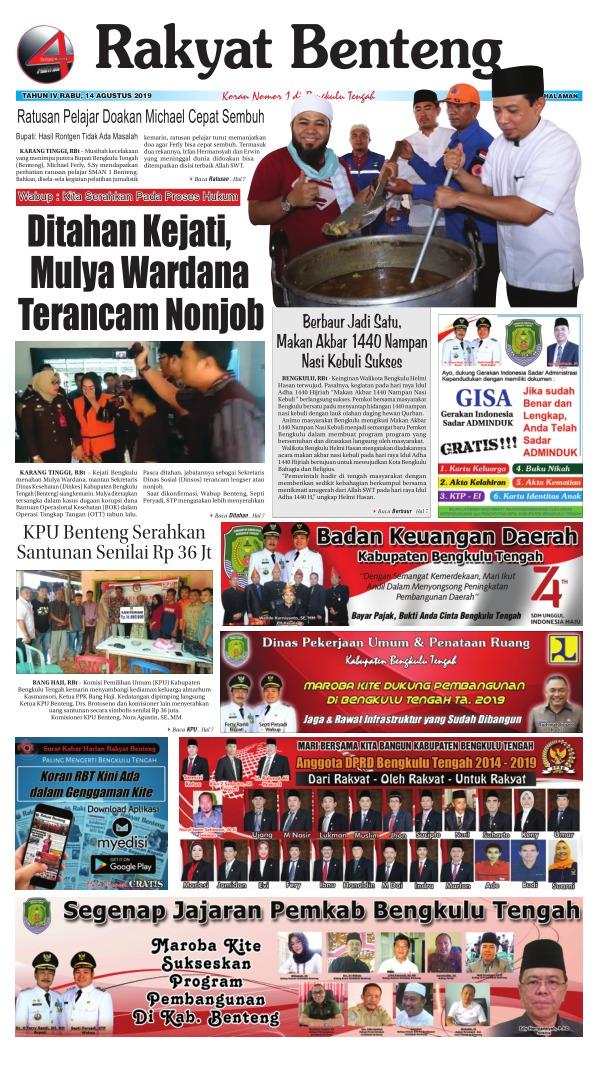 Koran Rakyat Benteng - Edisi 14 Agustus 2019