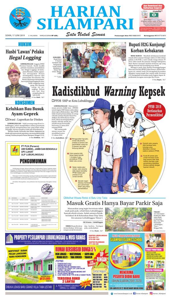 Koran Harian Silampari - Edisi 17 Juni 2019