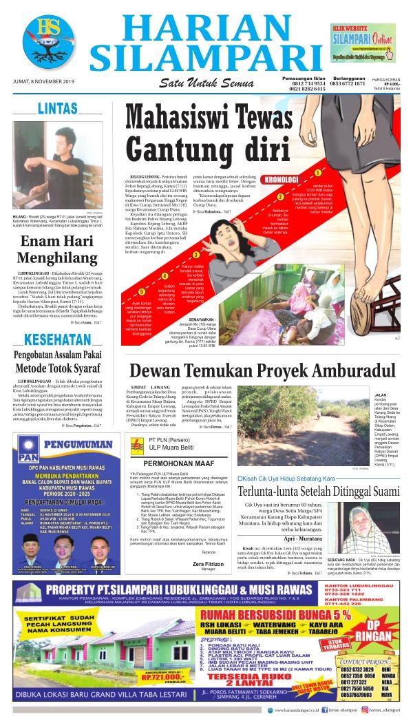 Koran Harian Silampari - Edisi 8 November 2019