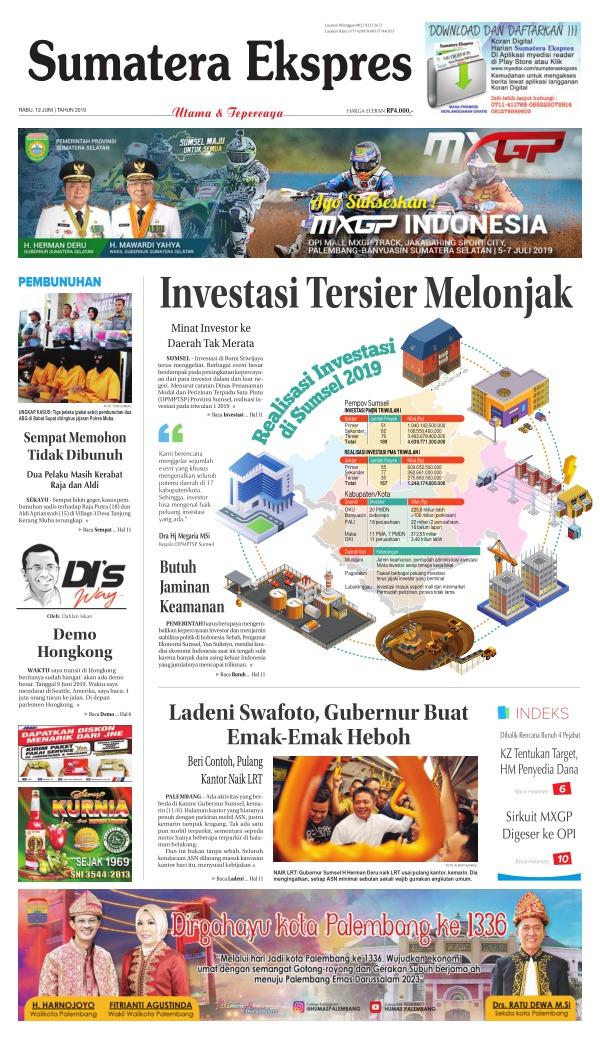 Koran Sumatera Ekspres - Edisi 12 Juni 2019