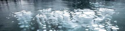 Fenomena gelombang beku Danau Abraham