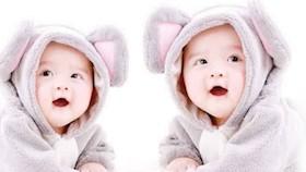 Serunya mengasuh bayi kembar