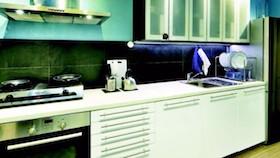 Praktis dengan dapur modular