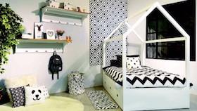 Hitam-putih kamar remaja putri