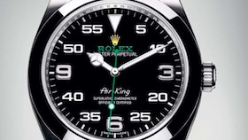 Rolex oyster perpetual Air-King, Taking flight