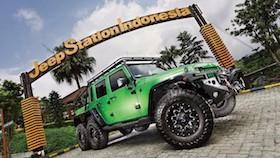 Jeep Wrangler JK 6x6, radical foot