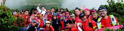 Run for Indonesia rumahnya pada pelari