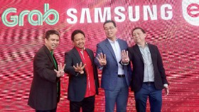 Kolaborasi Grab, Telkomsel, Samsung, dan Erafone