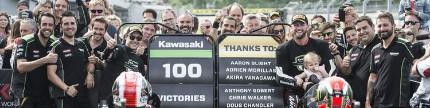 Motorace Kawasaki raih kemenangan ke-100