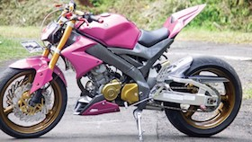 Yamaha V-ixion 2009, beauty of priangan timur yang kekar