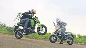 Test ride Kawasaki Z125 dan KSR Pro, tak semungil yang dikira
