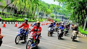 Rolling thunder, antusias ratusan bikers turun ke jalan