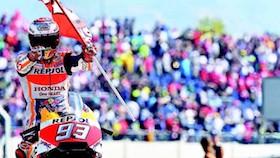 MotoGP seri XIV, Aragon - Spanyol, perang ban di aspal panas