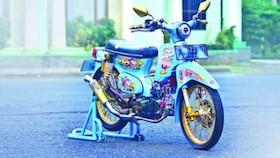Honda Grand 1992, besi tua bikin jatuh cinta