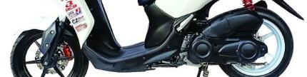 Pasang pelek lebar di Yamaha Lexi 125, bolt on bro!