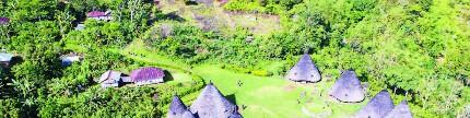 Desa adat Wae Rebo, tamu disambut upacara adat dan kentongan