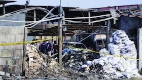 Kebakaran pabrik kembang api di Kosambi