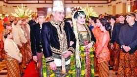 The royal wedding Kahiyang Ayu - Bobby Nasution