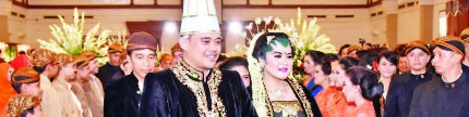 The royal wedding Kahiyang Ayu - Bobby Nasution