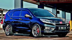 Honda CR-V 2.4 2015, black carbonized SUV