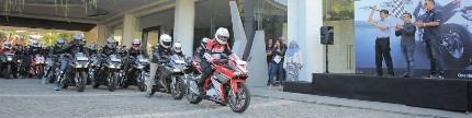 All new Honda CBR250RR, world premiere riding experience total control