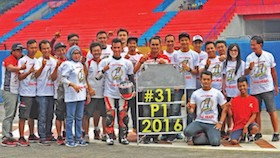 Kejurnas supersport 600 IRS seri 5, Sentul, Jawa Barat, cedera tangan tak kendur