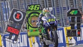 MotoGP seri 16, Phillip Island, Australia, determinasi tinggi Valentino Rossi