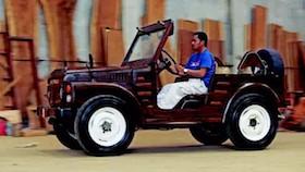 Mobil kayu, enggak cuma miniatur, tapi bisa berjalan