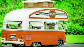 Volkswegen type 2 bus (Kombi) 1977, snail camper Dakota pertama di dunia