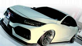 Honda Civic Turbo 2017, stance, USDM, street racing