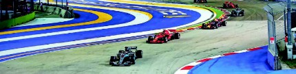 F1 Putaran 15, sulitnya balapan di Marina Bay