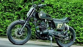 Kawasaki W175 2018, bubur ayam flat track