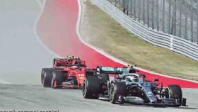 F1 putaran 19, Amerika Serikat, finish posisi dua, tetap juara dunia
