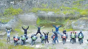 Komunitas Kawasaki Versys, tantangan sunmori bukit jeddih