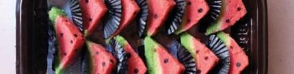 Bolu cantik bentuk semangka