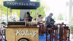 Koling cafe, Yogyakarta - kopi keliling dengan rasa masa kini