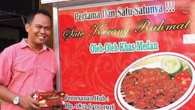 Sate kerang Rahmat, Medan, Sumatera Utara