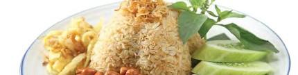 Nasi Bertoping lauk Nusantara