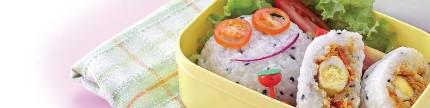 Nasi kepal beragam isi