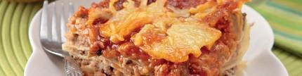 Lasagna beef burger