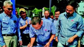 Peluncuran FLC di Karawang, Jawa Barat, sarana FMC untuk mengedukasi petani