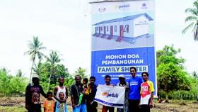 Wow! Dt Peduli siap bangun shelter family di Palu