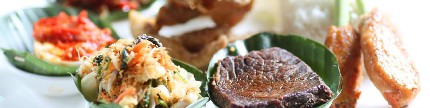 Mengandalkan masakan Indonesia