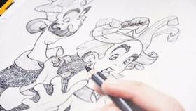 Sketching tahap awal street art