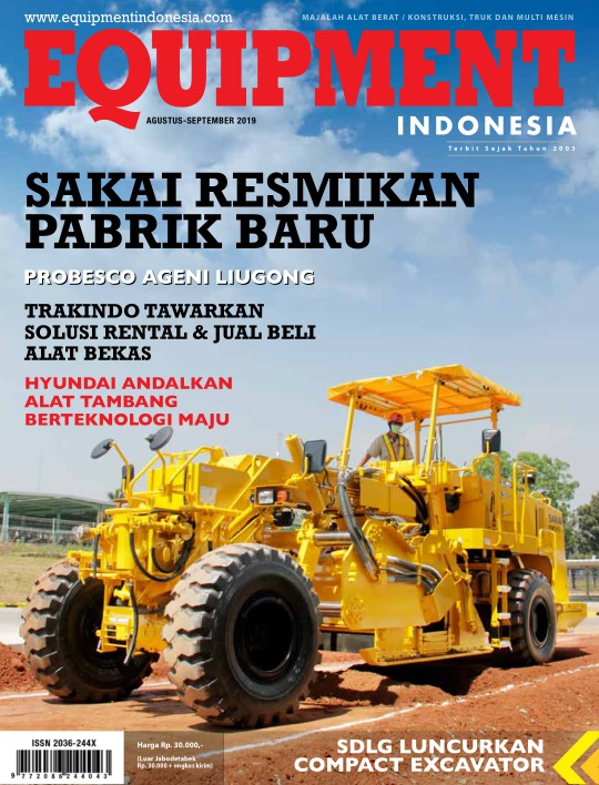 Majalah Equipment Indonesia - edisi Agustus - September 2019