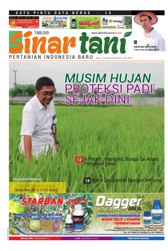 Tabloid Sinar Tani - edisi 3737